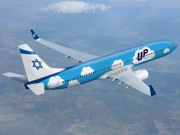 מטוס בואינג 737-800של אל על בצבעי מותג UP