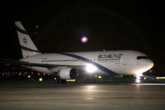 מטוס בואינג 767-300ERשל אל על שבו יתבצעו הטיסות לבוסטון