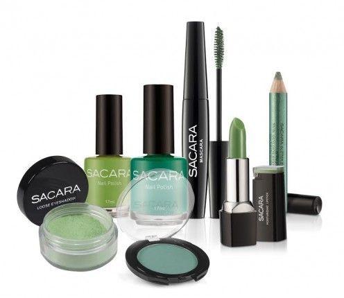 """50 גוונים של ירוק:  רשת בגווני הירוק הקוסמטיקה SACARA משיקה: קולקציית מוצרי איפור לט""""ו בשבט"""