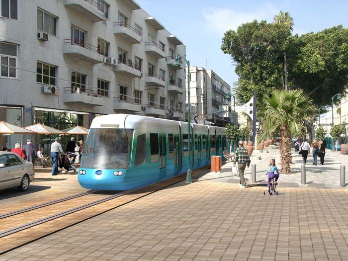 הדמיה. רכבת קלה בתל אביב