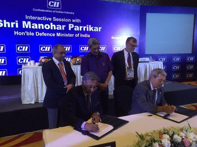 הסכם שיתוף פעולה נחתם בין רפאל וקליאני ההודית