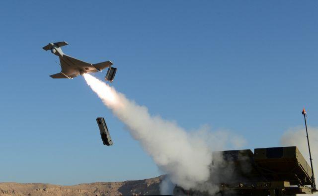 טיל הארופ משוגר לדרכו. צילום: תעשייה אווירית