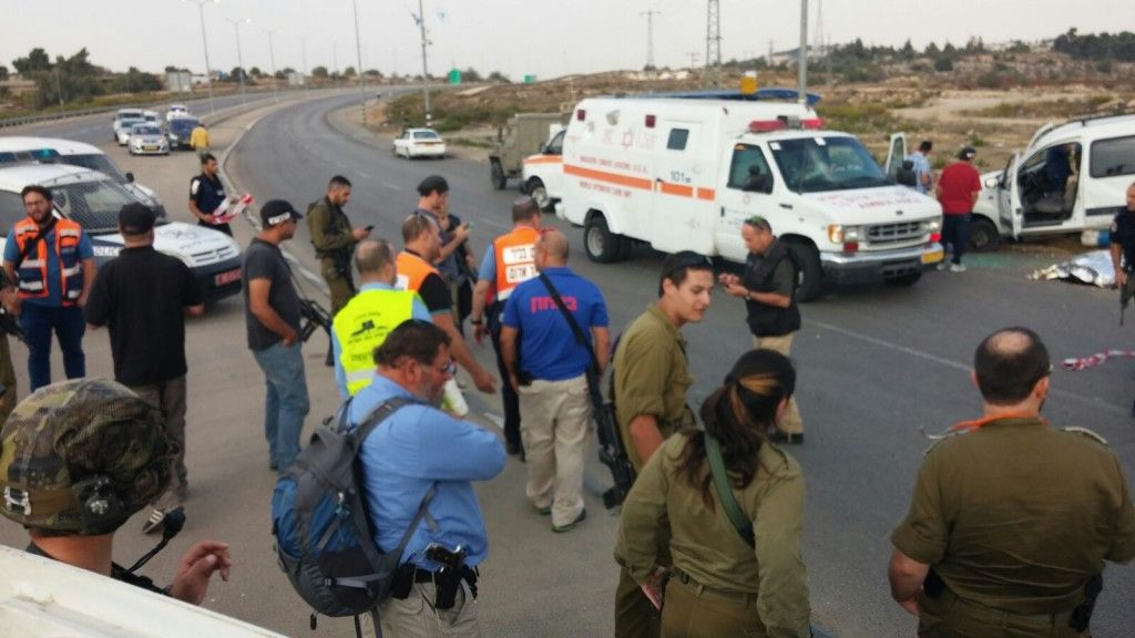 שני פצועים בפיגוע דריסה ליד גוש עציון