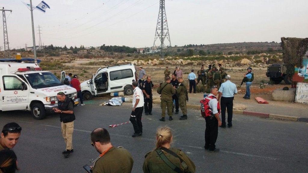 שני פצועים בפיגוע דריסה ליד גוש עציון צילום: דוברות גוש עציון