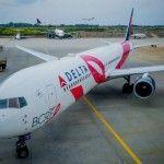 מטוס ורוד של דלתא יגביר מודעות לסרטן השד