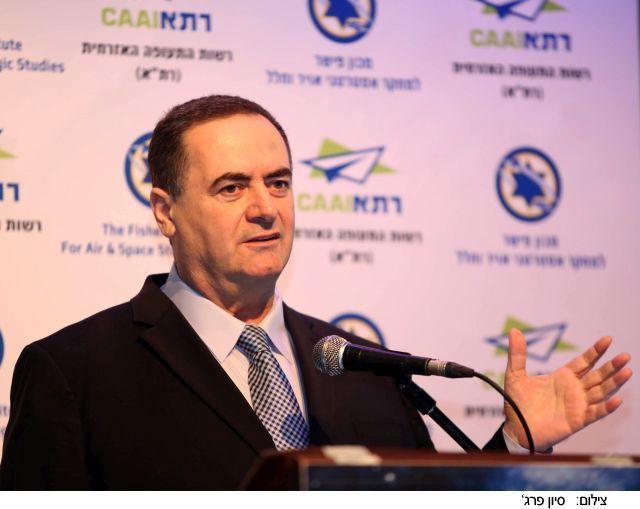 שר התחבורה והמודיעין ישראל כץ. צילום: סיון פרג'