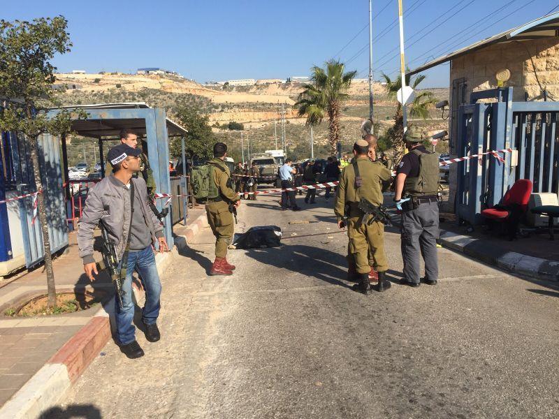 זירת הפיגוע באריאל מערב. צילום: עיריית אריאל