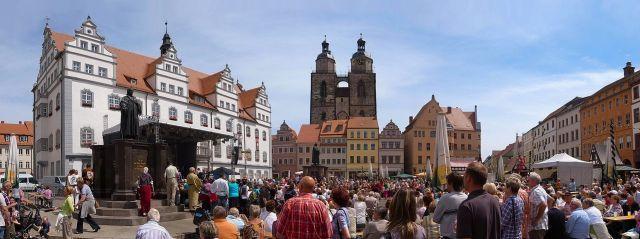 ויטנברג, העיר שבה פעל לותר. צילום: ויקיפדיה מעלה היצירה