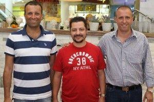 הבעלים של קפה גרג: גלעד אלמוג, ניר אדרי ויאיר מלכה. צילום: אילן הלד
