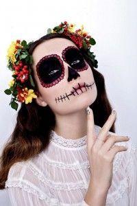 מראה איפור סאקרה בהשראת החג המקסיקני צילום מירב בן לולו (2)