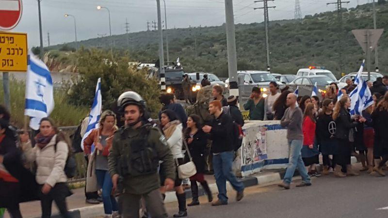 הפגנה בצומת אריאל