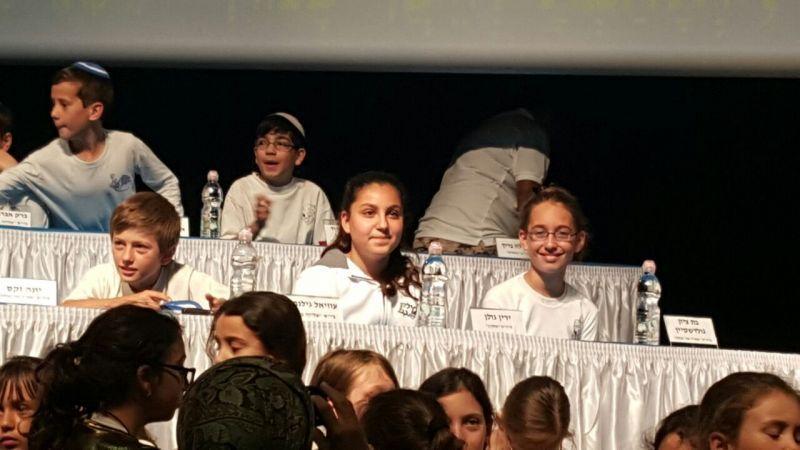 המתמודדת השניה , ירין גולן תלמידת כיתה ו' בבית הספר מילקן