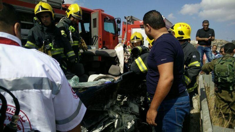 הרוגים פלסטינים בתאונת דרכים קשה בין אריאל לתפוח צילום: איחוד הצלה