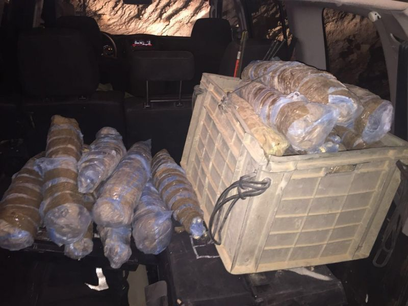 סוכלה הברחת סמים גדולה בגבול מצרים