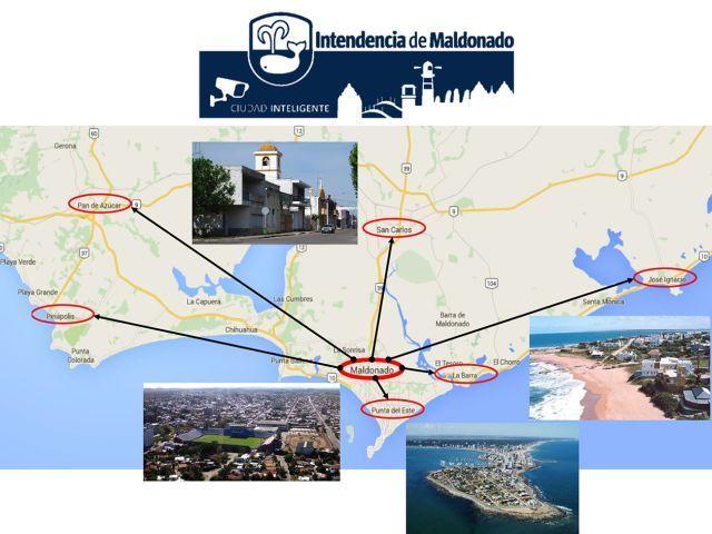 """מפת פרויקט """"מחוז בטוח"""" של אלביט מערכות באורוגוואי"""