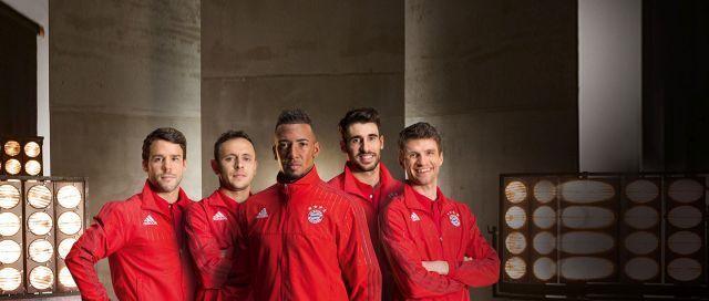 """כמה שחקנים מקבוצת ביירן מינכן. צילום יח""""צ"""