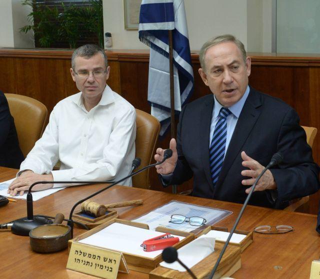 ראש הממשלה בנימין נתניהו ושר התיירות יריב לוין בישיבת ועדת השרים. צילום: דוברות הוועדה