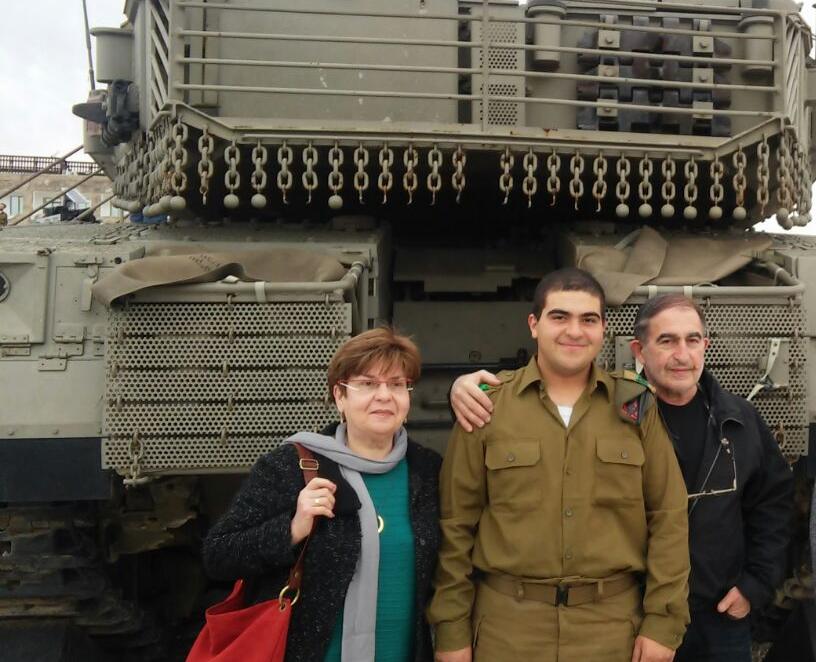 """ישראל ואריה רוזן, מורשת השיריון צילום: דובר צה""""ל"""