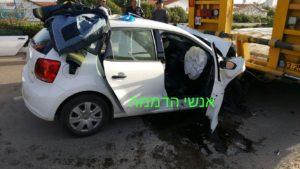 תאונה באריאל