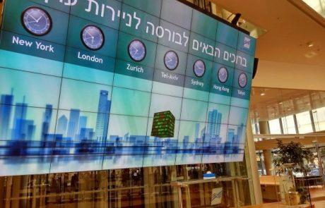 הבורסה בתל אביב נצבעה אדום