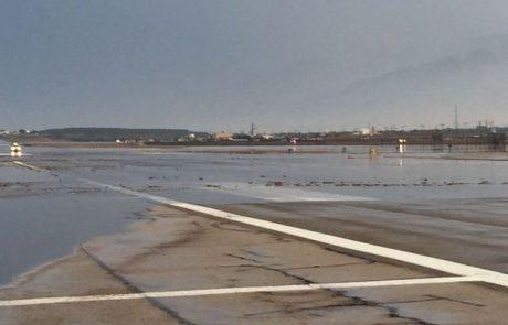 נמל התעופה אילת נסגר בגלל שיטפונות