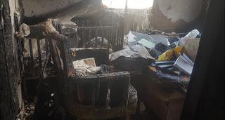 מחיר כבד: בית נשרף בחוות יאיר