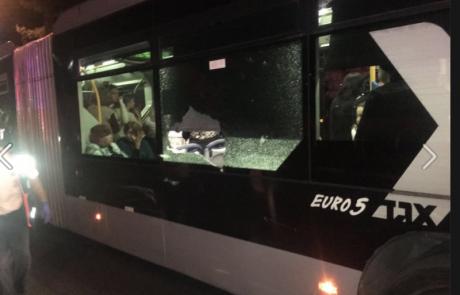 מספר נפגעים כתוצאה מיידוי אבנים בירושלים