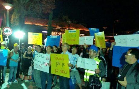 המנופאים הפגינו מול קריית הממשלה בתל אביב