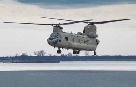 מסוק צ'ינוק CH-47F הראשון הועבר לחיל האוויר של הולנד