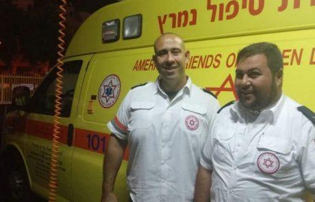 משמרת הצלת חיים ביחד עם האיש שהציל את חייו