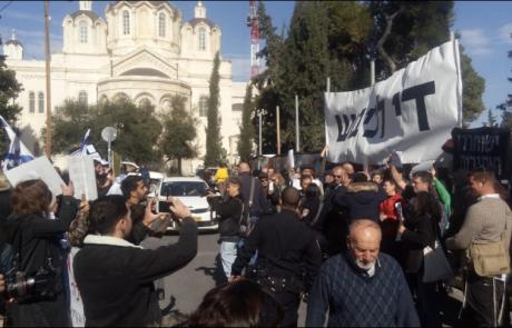 מחאה מול בית המשפט בירושלים: לכלוא את האנרכיסט יונתן פולק