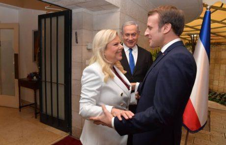 """הזוג נתניהו אירחו את נשיא צרפת לארוחת בוקר: """"פגישה פרודוקטיבית וחמה"""""""
