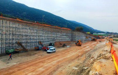 הושלם קיר התמיכה לכביש הגישה למחנה  ג'למה