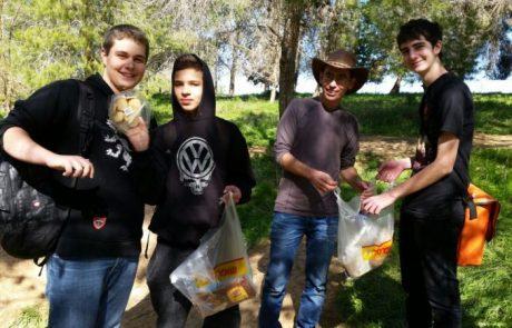 תלמידי אנקורי פתח תקוה מחזירים אהבה לדרום