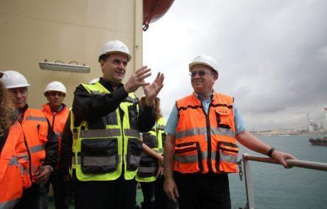 השלמת רציף העבודה בנמל הדרום הוקדמה בחמישה חודשים