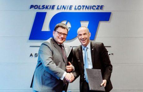 לאל על יש הסכם קוד שייר עם חברת התעופה הפולניתלוט