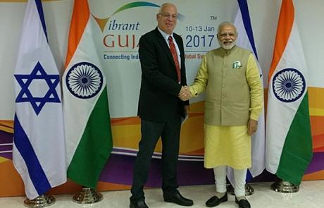 שר החקלאות אורי אריאל נפגש עם ראש ממשלת הודו
