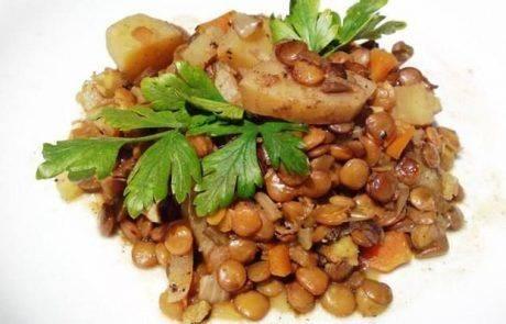 יום שני ללא בשר – תבשיל עדשים וירקות