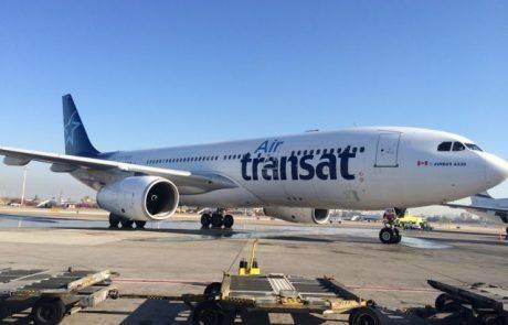 """טיסת הבכורה של אייר טרנסאט נחתה הבוקר בנתב""""ג"""