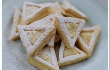 חג פורים שמח – עוגיות אוזני המן ג'ינג'ר לימון