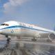 """מטוס 787 הרטרו של אל על נחת הבוקר בנתב""""ג"""