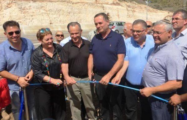 נחנך הקטע המרכזי בזרוע המזרחית של כביש חוצה ישראל