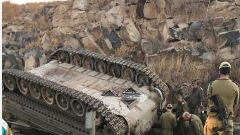 שני חיילים נהרגו וארבעה נפצעו בהתהפכות תותח