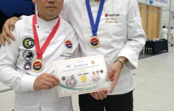 שף יוסי חנוכה  זכה בשלוש מדליות בתחרות בישול בקוריאה
