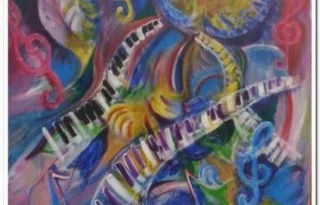 תערוכת Mus(E)ic מיוזיק-מוסיקה כהשראה ליצירה חזותית