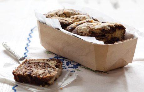 עוגת שמרים – בבקה שוקולד וקינמון