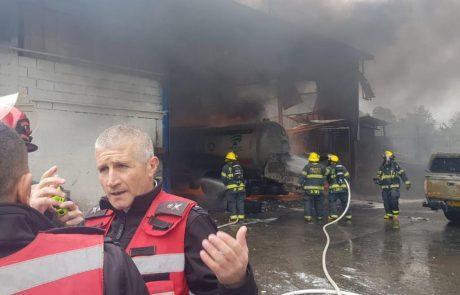 שלושה פצועים מפיצוץ מכליות גז בטמרה