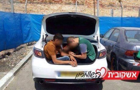 ערביה נעצרה במחסום רנטיס עם חמישה פלסטינים ברכב
