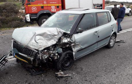 הולכת רגל נפצעה קשה בתאונה בכביש 60