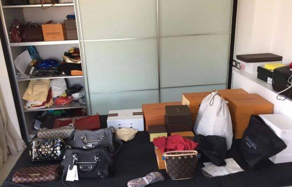 חשד למכירת מוצרי הלבשה מזויפים אשר הוצגו כמותגיי יוקרה